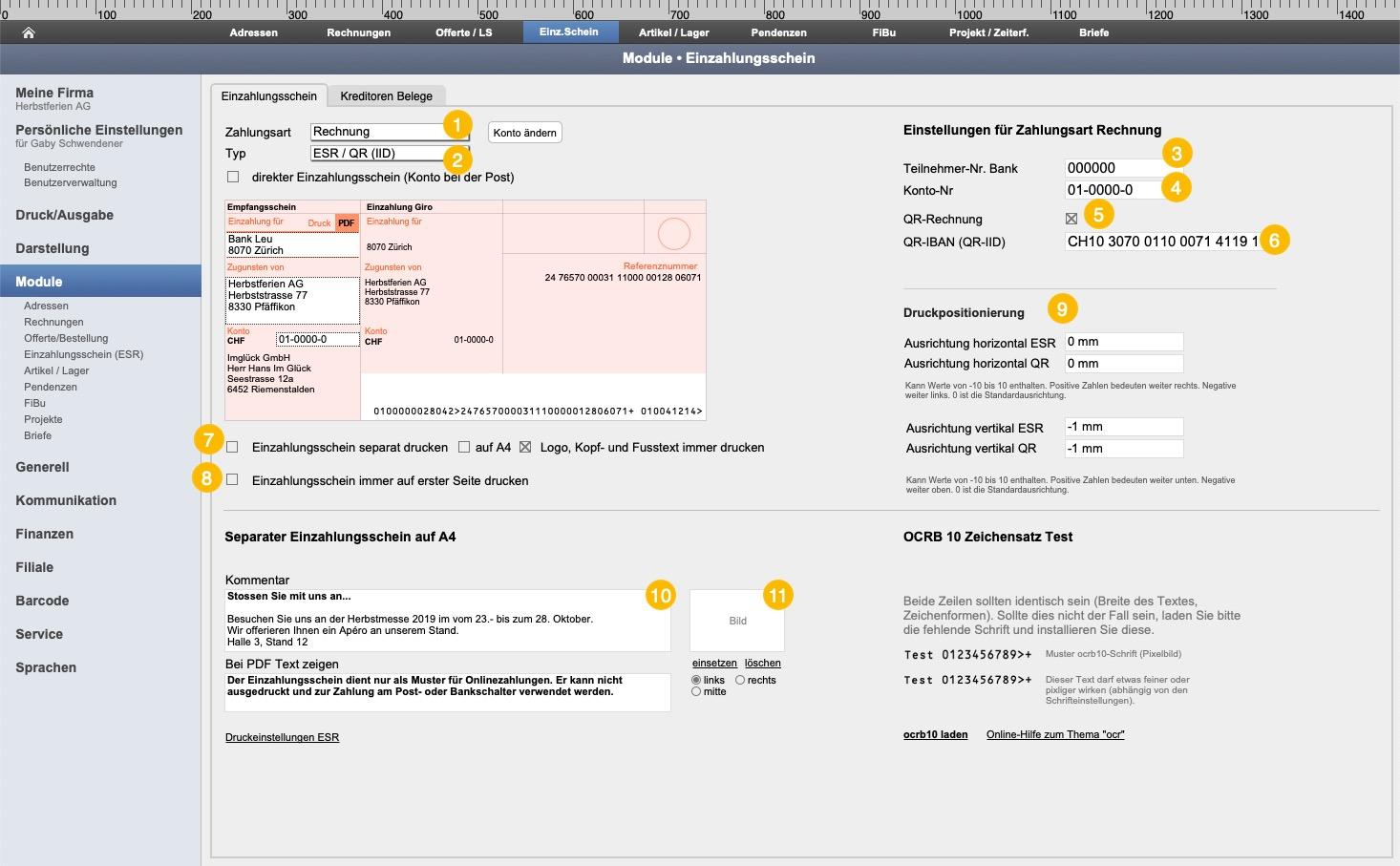 QR-Rechnung FlexBüro